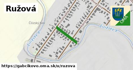 ilustrácia k Ružová, Gabčíkovo - 144m