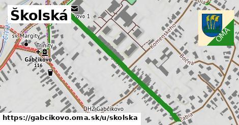 ilustračný obrázok k Školská, Gabčíkovo