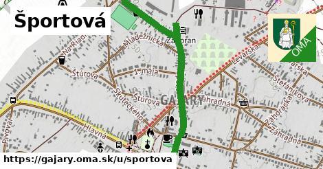 ilustračný obrázok k Športová, Gajary