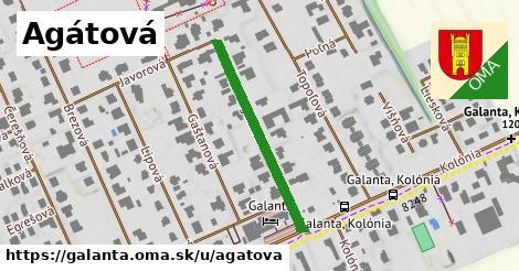 ilustrácia k Agátová, Galanta - 304m