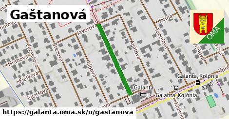 ilustrácia k Gaštanová, Galanta - 256m