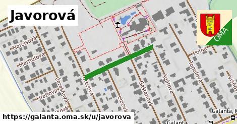 ilustrácia k Javorová, Galanta - 234m