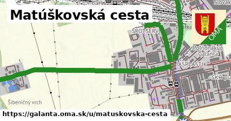 ilustrácia k Matúškovská cesta, Galanta - 489m