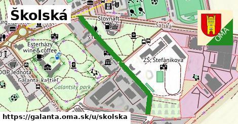 ilustrácia k Školská, Galanta - 394m