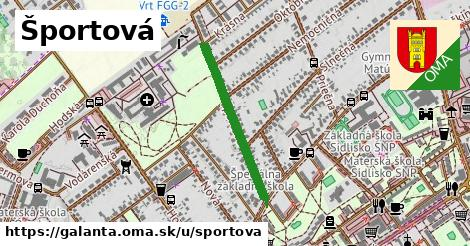 ilustrácia k Športová, Galanta - 541m