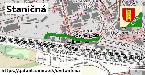 ilustrácia k Staničná, Galanta - 295m