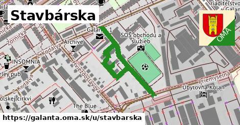 ilustrácia k Stavbárska, Galanta - 666m