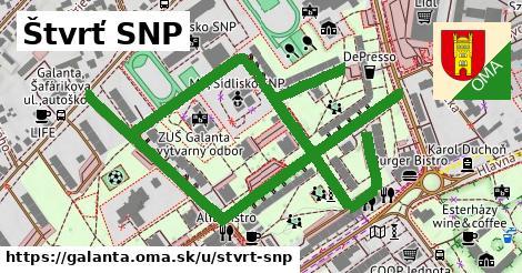 ilustrácia k Štvrť SNP, Galanta - 1,32km