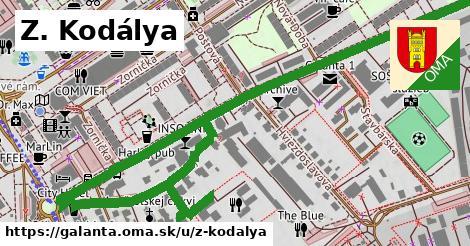 ilustrácia k Z. Kodálya, Galanta - 1,23km