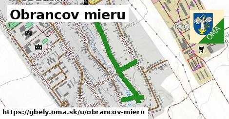ilustrácia k Obrancov mieru, Gbely - 0,84km