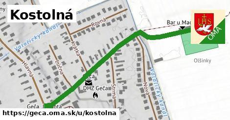 ilustrácia k Kostolná, Geča - 585m