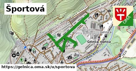 ilustrácia k Športová, Gelnica - 1,11km