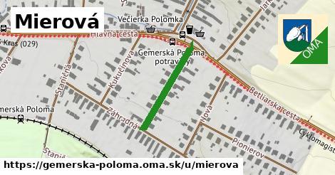 ilustrácia k Mierová, Gemerská Poloma - 216m