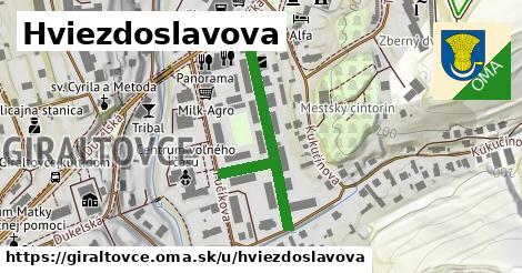 ilustrácia k Hviezdoslavova, Giraltovce - 304m