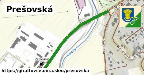 ilustrácia k Prešovská, Giraltovce - 395m