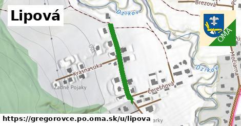 ilustrácia k Lipová, Gregorovce, okres PO - 252m