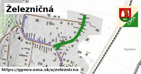 ilustrácia k Železničná, Gyňov - 293m
