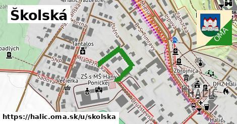 ilustrácia k Školská, Halič - 397m