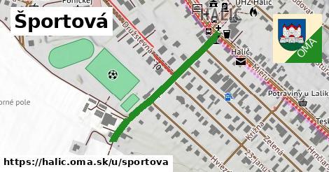 ilustrácia k Športová, Halič - 342m