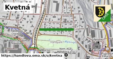 ilustrácia k Kvetná, Handlová - 223m