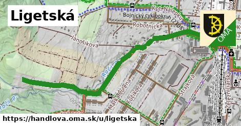 ilustrácia k Ligetská, Handlová - 1,41km