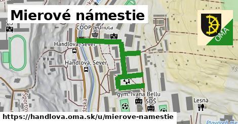 ilustrácia k Mierové námestie, Handlová - 266m