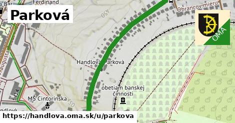 ilustrácia k Parková, Handlová - 604m