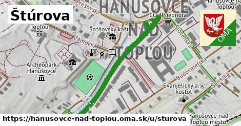ilustrácia k Sturova, Hanušovce nad Topľou - 355m