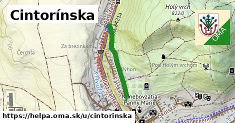 ilustrácia k Cintorínska, Heľpa - 493m