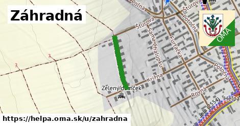 ilustračný obrázok k Záhradná, Heľpa