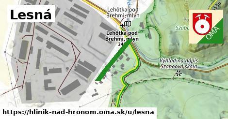ilustrácia k Lesná, Hliník nad Hronom - 171m