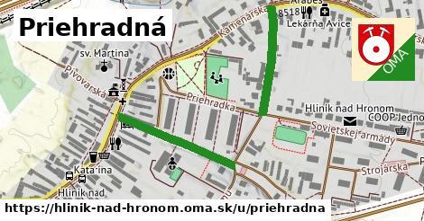 ilustrácia k Priehradná, Hliník nad Hronom - 417m