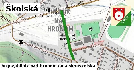 Školská, Hliník nad Hronom