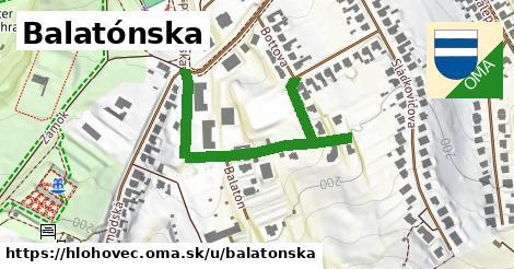 ilustračný obrázok k Balatónska, Hlohovec