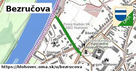 ilustrácia k Bezručova, Hlohovec - 250m