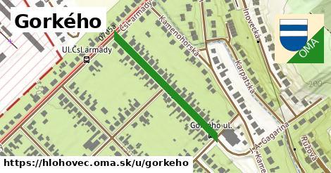 ilustrácia k Gorkého, Hlohovec - 327m