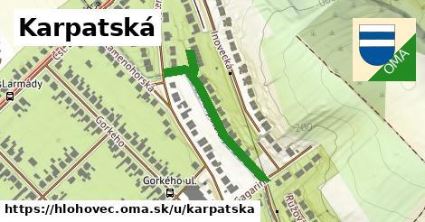 ilustrácia k Karpatská, Hlohovec - 329m