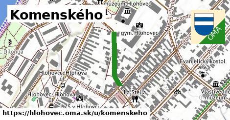 ilustrácia k Komenského, Hlohovec - 259m