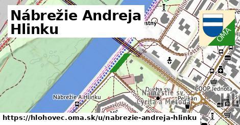 ilustrácia k Nábrežie Andreja Hlinku, Hlohovec - 1,59km
