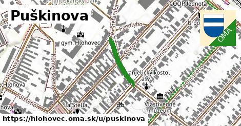 ilustrácia k Puškinova, Hlohovec - 185m