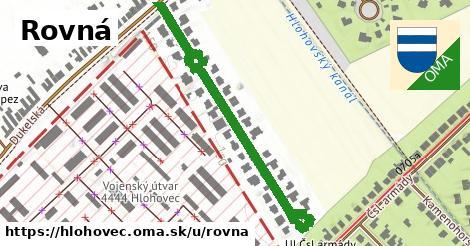 ilustrácia k Rovná, Hlohovec - 528m