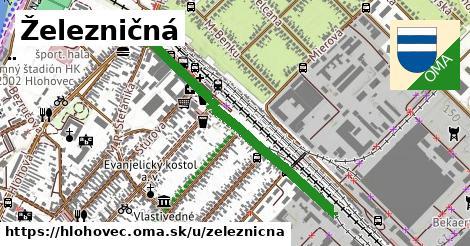 ilustračný obrázok k Železničná, Hlohovec