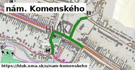 ilustrácia k nám. Komenského, Hluk - 478m