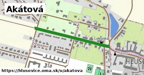 ilustrácia k Akátová, Hlušovice - 389m
