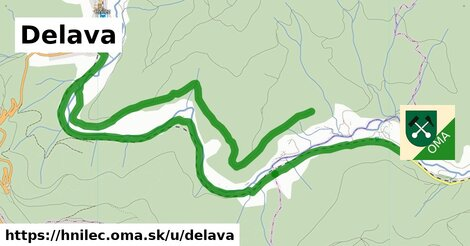 ilustrácia k Delava, Hnilec - 9,4km