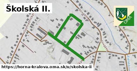 Školská II., Horná Kráľová
