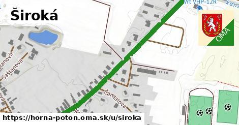 ilustrácia k Široká, Horná Potôň - 671m