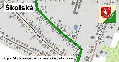 ilustrácia k Školská, Horná Potôň - 594m
