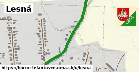 ilustrácia k Lesná, Horné Lefantovce - 332m