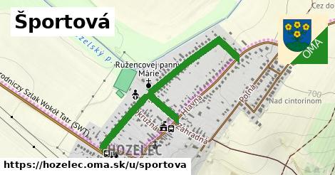 ilustrácia k Športová, Hozelec - 0,84km